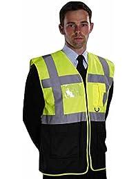 YOKO-Chaleco con cremallera-Chaleco reflectante fluorescente-Chaleco de seguridad-HVW801-inisex para hombre y mujer