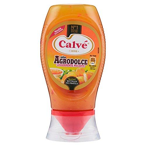 Calvè - Salsa Agrodolce, Leggermente Piccante - 4 pezzi da 250 ml [1 l]