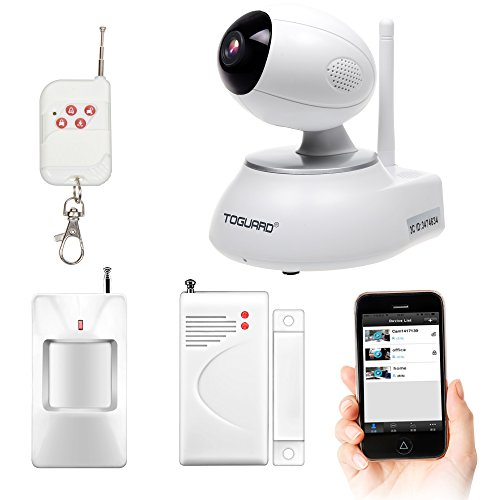 Toguard Wireless Home Security surveillance Alarm System DIY KIT with Door sensor*1+PIR Motion Detector body sensor*1+remote control*1