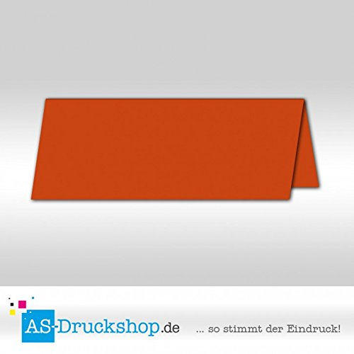Große Tischkarte/Platzkarte - Nektarine - satiniert/10 Stück/13,2 x 5,1 cm