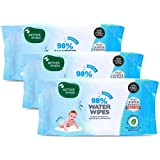 Mother Sparsh 98% Water Wipes (80 Scented Baby Wipes, Pack of 3) - Plant Based Fabric