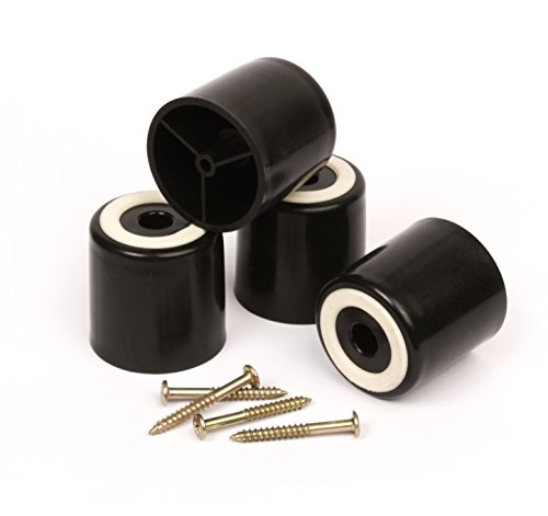 Slipstick Stuckleisten Profilleiste CB5125,1cm hoch Bodenschutz Möbel Beine mit Rutschfeste Gummi-Griff (Set von 4) 5,1cm breit x 5,1cm Höhe-schwarz Kunststoff