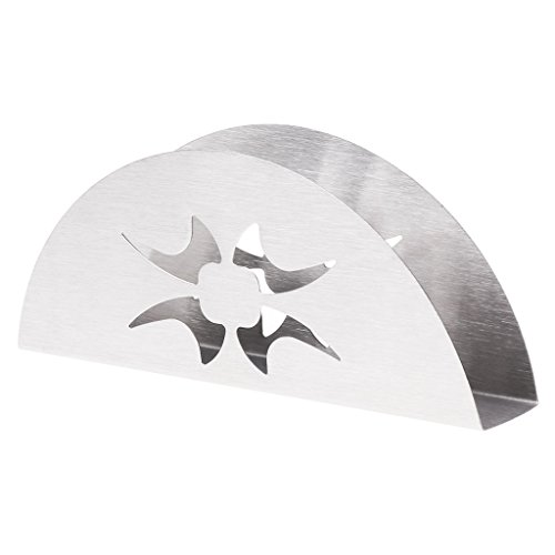 Yanhonin - Toallero de Papel para Mesa o Mesa de Comedor, Acero Inoxidable, 02#, 5.91×0.98×2.36in