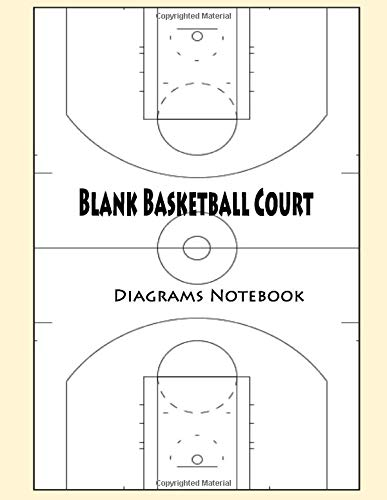 Blank Basketball Court Diagrams Notebook: 120 Full Page Basketball Court Diagrams for Drawing Up Plays, Drills, and Scouting: Practice Drills and ... Coach Court Diagrams to Draw Game Plays
