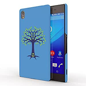 Koveru Designer Printed Protective Snap-On Durable Plastic Back Shell Case Cover for Sony Xperia Z4, Sony Xperia Z3 PLUS - Go green tree