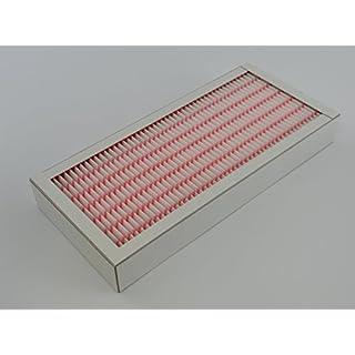 Feinstaubfilter F7 Pleat 350 x 160 x 48mm mit Kartonrahmen u.A. für Pleatfilter Minipleat Pollenfilter Luftreinigung Luftreiniger Pollenschutz Feinfilter Luftfilter Ersatz-Feinstaubfilter Partikelfilter Lüftungsanlage Wohnraumlüftung