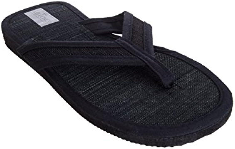 Sonnenscheinschuhe® - Sandalias de algodón para hombre negro negro