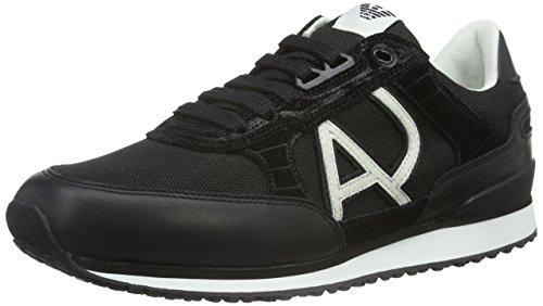 Armani Jeans Shoes & Bags DE Herren C651248 Sneaker Schwarz (Nero - Black 12) 43 EU