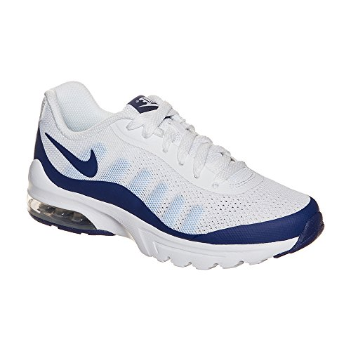 Nike Air Max Invigor (Gs), Chaussures de Course Fille Blanco (White / Deep Royal Blue-Bluecap)