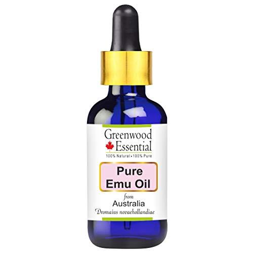 Greenwood Essential Pure Emu Oil (Dromaius novaehollandiae) with Glass Dropper 100% Natural Therapeutic Grade 15ml
