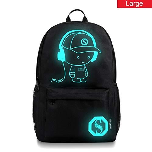 Anime Leucht Rucksack Kind Schultaschen Junge Mädchen Kinder Schulrucksack Mochila Kinder Taschen Dieb Rucksäcke Schultasche 29x48x17cm Music-L