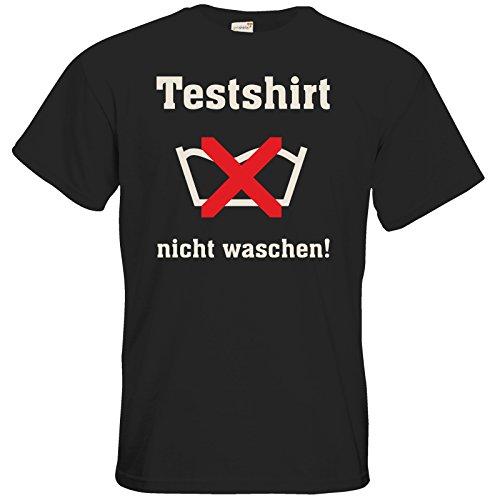 getshirts - RAHMENLOS® Geschenke - T-Shirt - Testshirt nicht waschen - das muss so riechen Black