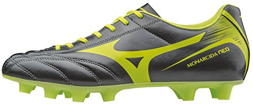 Mizuno Monarcida Neo Md, Chaussures de Football Homme Gris (Dark Shadow/lime Punch)