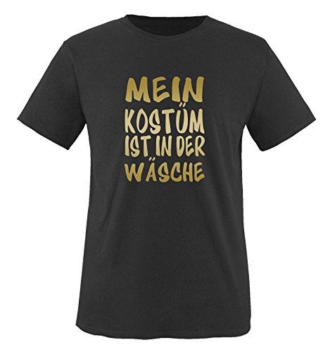 MEIN KOSTÜM IST IN DER WÄSCHE - Kinder T-Shirt Schwarz/Gold 152-164