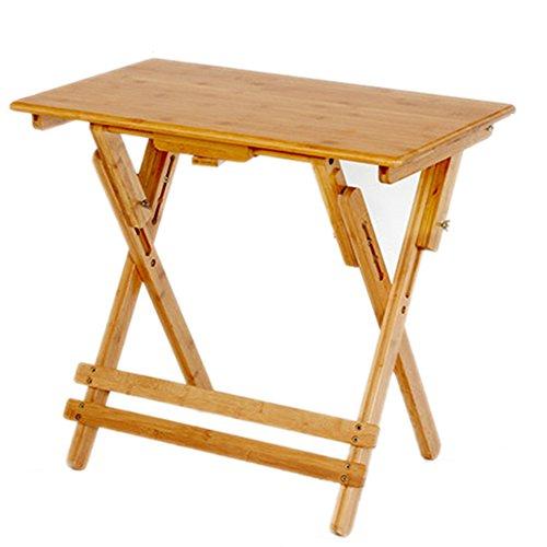 Nianxinan tavolo pieghevole pieghevole bambù portatile multiuso semplice regolabile in altezza