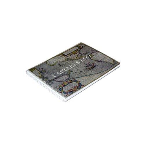BookFactory® Logbuch/Bootlogbuch/Schiffslogbuch/Nautisches Logbuch - 100 Seiten, farbiger Einband mit Translux-Schutz, 27,9 x 20,3 cm, Draht-O-Bindung (LOG-100-CPT-011) -