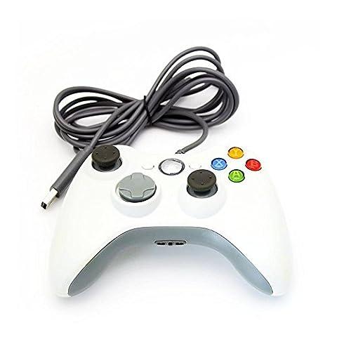 Xbox 360 Controller, Stoga Kabelgebundene USB Gamepad Controller für MICROSOFT Xbox 360 PC Windows7 XP- (360 Wired Controller)