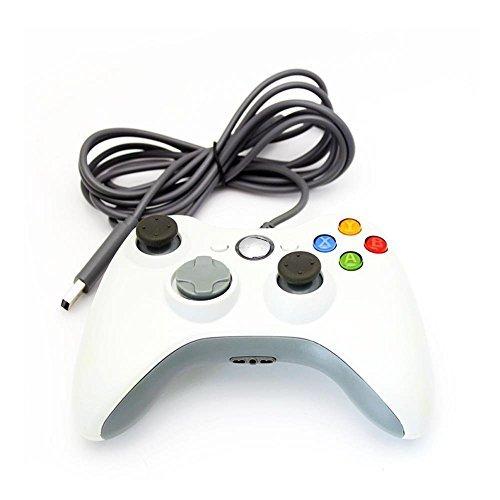 Turbo Xbox 360 Controller (Xbox 360 Controller, Stoga Kabelgebundene USB Gamepad Controller für MICROSOFT Xbox 360 PC Windows7 XP- Weiß)