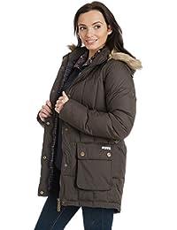 Mujeres chaqueta Spencer Puffa, chaqueta, mujer, color Marrón - Dark Chocolate/Dark Chocolate Check, tamaño talla 18