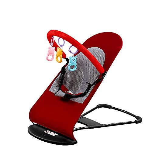 YTBLF Säuglingswiege Justierbarer Sicherheitsgurt Neugeborener Bequemer Schwingstuhl Beweglicher Baby-Schwingen Passend Für 0-3 Altes Baby,Red