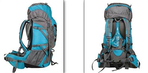 zaino trekking Borse grandi capacità di alpinismo 60L zaino maschio e femmina CR regolabile campeggio zaino esterno Zaini da escursionismo ( Colore : Arancia , dimensioni : 56-75L ) Blu