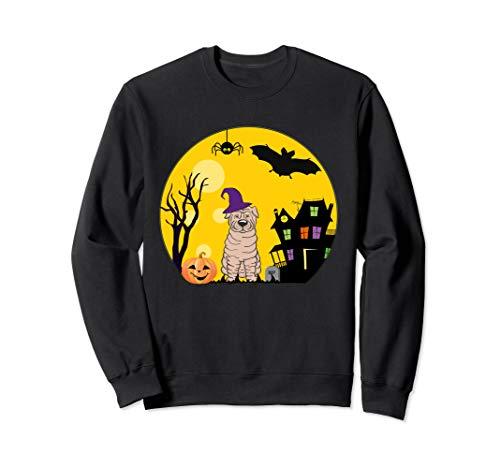 Kostüm Pei Shar - Shar Pei Hunde-Halloween-Kostüm gruselig Vollmond Sweatshirt