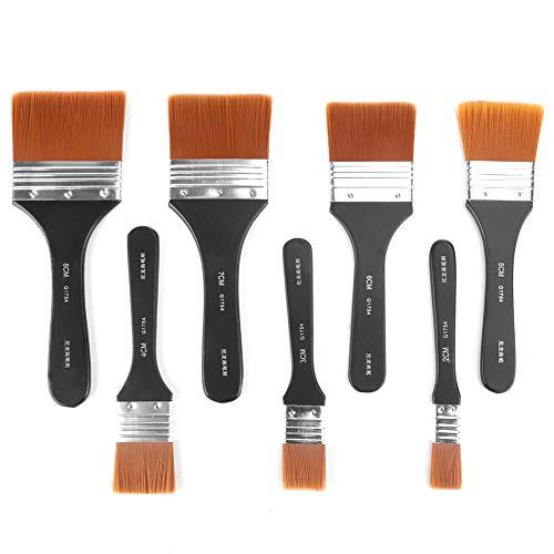 Wandmalpinsel 7-tlg. Flachpinsel-Set mit leichtem Holzgriff für Ölgemälde Acrylmalerei