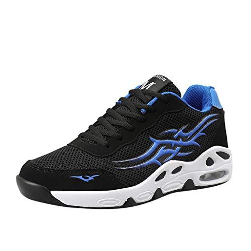 CUTUDE Herren Sommer Mesh Atmungsaktiv Sneaker Air Cushion Dickes Soled Straps Sneakers (Blau, 43 EU) Chuck Taylor All Star 3 Strap