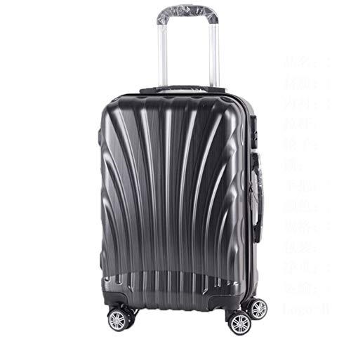GZL Koffer Travel Case, Pc Aluminiumrahmen Gepäckstudenten Trolley, Passwort Trolley Availablesuitable für Hochzeit Flitterwochen in der Schule,Schwarz,20in