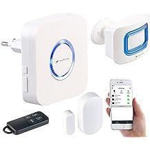 VisorTech Hausalarm: 4-teilige WLAN-Alarmanlage, Alexa-kompatibel, für bis 50 Sensoren, App (Alarmsysteme)