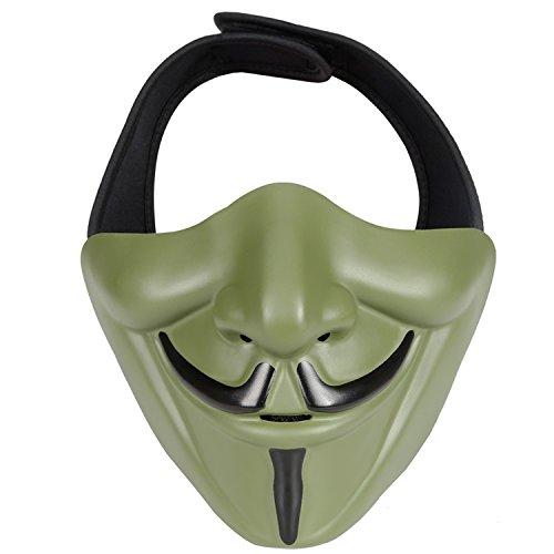 Blumen Des Krieges Kostüm - haoYK Schutzhülle mit Maske, Taktisch Paintball