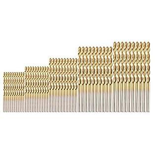 Arpoador 50 tlg Spiralbohrer Set 1mm,1.5mm,2mm,2.5mm,3mm HSS Bohrer Set Titanium Metallbohrer Handspiralbohrer Micro Bohrersets Werkzeuge Profi Drill Bit für Holz,Metall