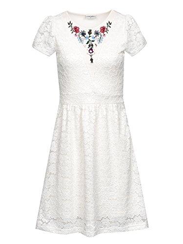 Vive Maria Damen Kleid Bohemian Lace Dress Weiß (White)