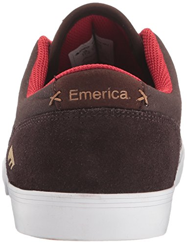 Emerica The Herman G6 Vulc, Herren Skateboardschuhe Brown/White