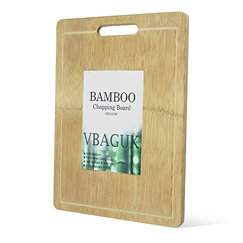 Tabla de Cortar de Bambú con Surco de Goteo