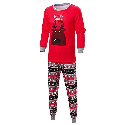 OverDose Damen Frohe Weihnachten Cartoon Bluse Hosen Familie -