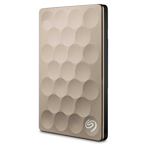 Seagate Backup Plus Ultra Slim 2TB, gold, externe tragbare Festplatte  inkl. Backup-Software, USB 3.0, PC & MAC & PS4  (STEH2000201)
