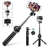 Leelbox Selfie Stick, Bâton réglable télescopique, avec Adaptateur de Montage, sans Batterie avec Bluetooth