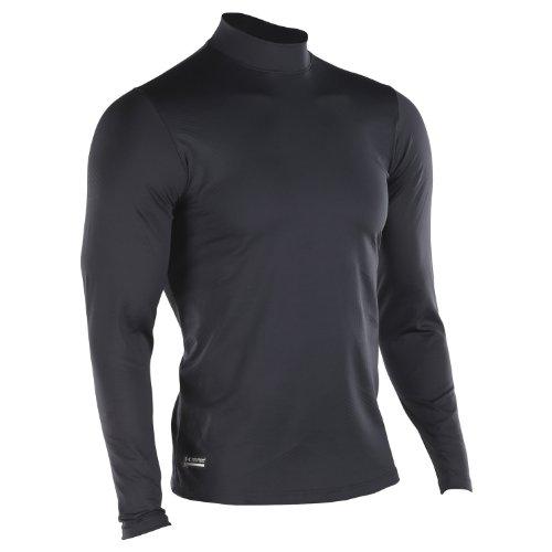 Under Armour Tactical Stehkragen Mock-Shirt ColdGear, 1 Stück, schwarz, UA1244393S-XXL (Elite Sportswear)