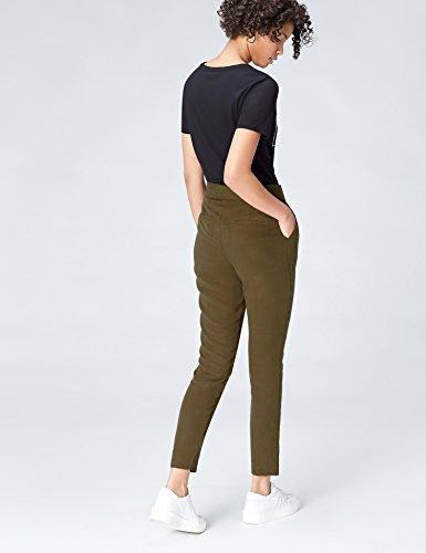 FIND Damen Hose mit Wickeleffekt Grün (Khaki)
