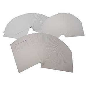 folia 8768 - Passepartoutkarten mit rechteckigem Ausschnitt, weiß, DIN A6, 50 Stück - ideal zum kreativen Gestalten von Einladungen, Glückwunschkarten