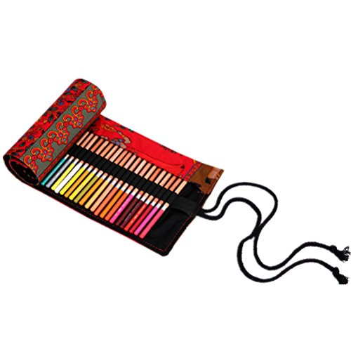 Yingman - porta matite a rotolo con 72 inserti #3