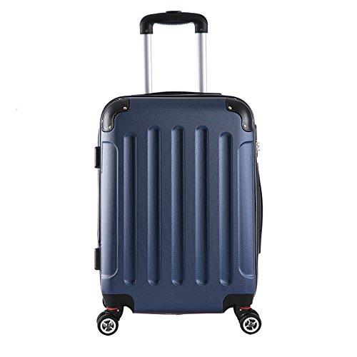 WOLTU RK4201bl, Reise Koffer Trolley Hartschale Volumen erweiterbar, Reisekoffer Hartschalenkoffer 4 Rollen, M/L/XL/Set, leicht und günstig, Blau (M, 55 cm & 42 Liter) - 2