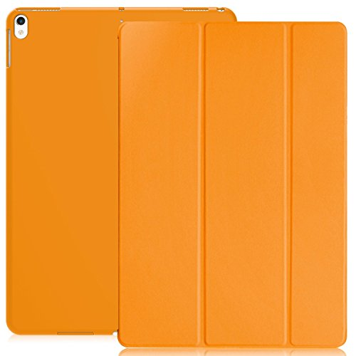 KHOMO ipad-pro-10.5-dual-gold Dual Super Slim Cover mit gummierten Rückseite und Smart Funktion–Apple iPad Pro 10,5–Gold weiß Orange Apple iPad Pro 10.5 (Ipad-gehäuse)