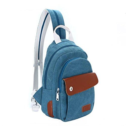 La signora zaino di svago/Piccola borsa da spalla/borsa di tela/pacco petto/pacchetto multifunzionale/pacchetto diagonale spalla-E B
