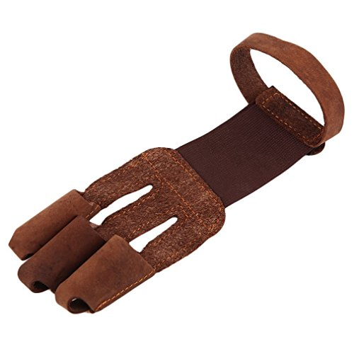 Sungpunet tiro con l' arco proteggere guanto Pull Bow Arrow Leather shooting guanti 3dita