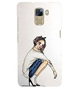 printtech Back Case Cover for Huawei Honor7