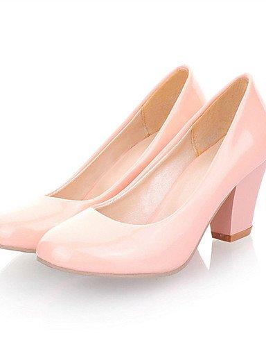 WSS 2016 Chaussures Femme-Mariage / Habillé / Décontracté / Soirée & Evénement-Noir / Bleu / Rose / Rouge / Blanc-Gros Talon-Talons-Talons- pink-us7.5 / eu38 / uk5.5 / cn38