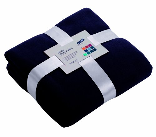 James & Nicholson  Fleecedecke, navy, 130x170 cm, JN950 ny (Pyjama Navy Satin)