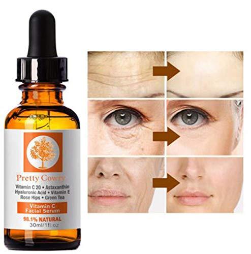 Sérum Vitamine C Premium de Visage, Anti-tache Foncée Huile de Vitamine C Ultra éclaircissante Sans Odeur anti-âge et anti-rides